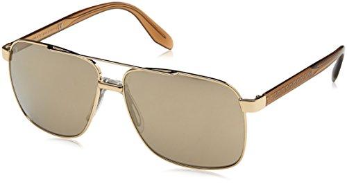 Versace Man Sunglasses, Gold Lenses Steel Frame, ()