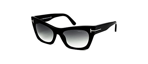 Tom Ford FT459 05B Black Kasia Cats Eyes Sunglasses Lens Category 2 Size - Eyewear Tom Women Ford