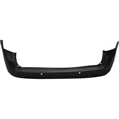 MBI AUTO - Painted to Match, Rear Bumper Cover Replacement for 2011-2017 Toyota Sienna w/Park Assist 11-17, TO1100285