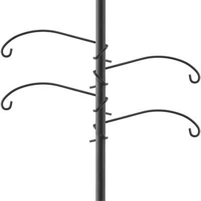BestNest Set of 4 Woodlink Pig Tail Pole Hangers, Black, 14'' L Each