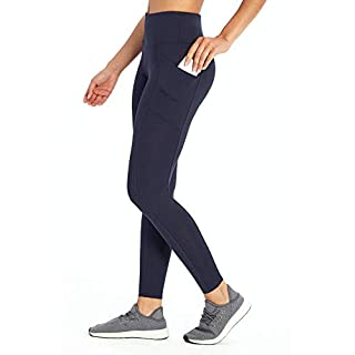 Marika Women's Standard Cameron High Rise Tummy Control Legging, Midnight Blue, Medium