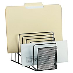 Brenton Studio(TM) Metro Mesh Wire Step File, Black (Office Depot Metro Mesh)