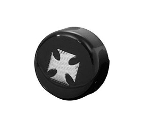 Drag Specialities 2107-0029 Black & Chrome Iron Cross Horn Cover