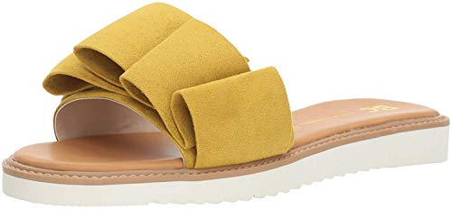BC Footwear Women's Fun for All Ages Flat Sandal, Yellow, 8 M US
