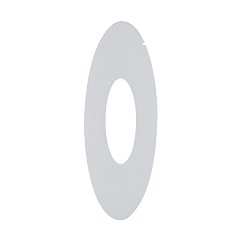 Alico Industries WLE106V32K-5-16 Scope LED Oval ADA New Construction Wall Niche Faceplates, Stainless Steel Finish with Frosted Lens by Alico Industries (Image #1)