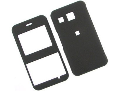 Lg Invision Plastic Case (Rubberized Hard Plastic Phone Cover Case Black For LG Invision CB630)