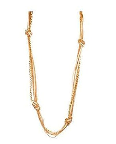 - Pendant Necklace for women-Girls Surgical Steel Multi Strands Knotted Rope Fashion Necklace (Gold Color)