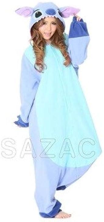 Amazon Com Stitch Pajama Costume One Size Fits All Blue Clothing
