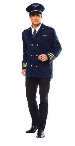 Costume Culture Men's Pilot Costume Extra Large, Blue, -