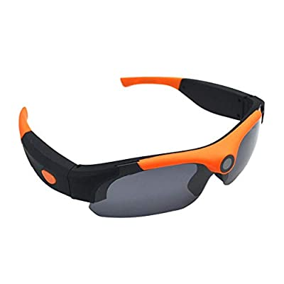 SODIAL 1080P Hd Smart Mini Camera Glasses 120 Degree Driving Glasses Outdoor Dvr Sports Glasses with Video Camera