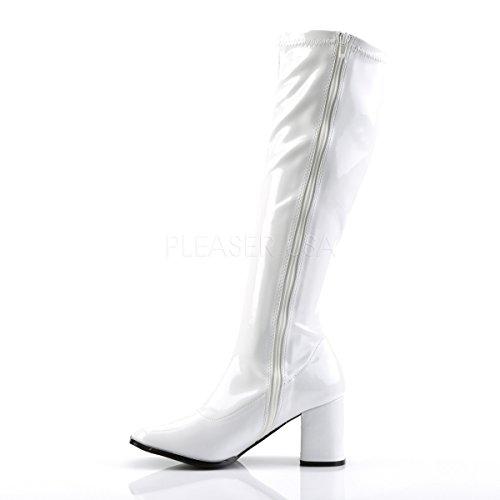 Funtasma para Botas Mujer White GOGO Patent 300 rq8Ufrp
