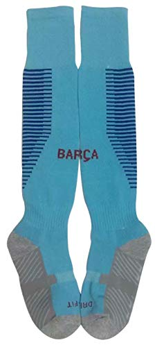 New FC Barcelona Away Soccer Socks for Kids & Youths Turquoise – DiZiSports Store