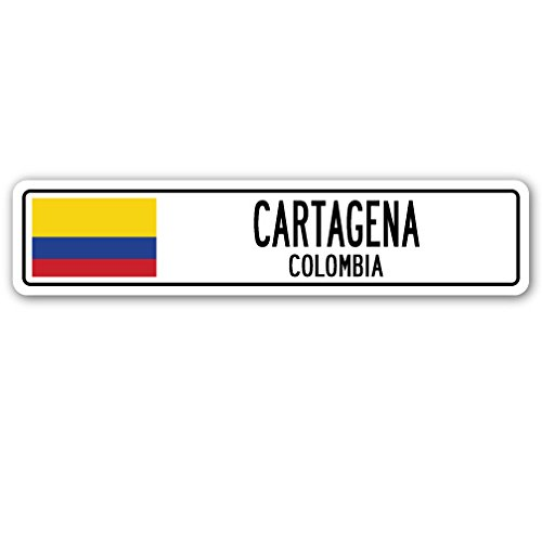 Cartagena, Colombia Street Sign Colombian Flag City Country Road Wall Gift