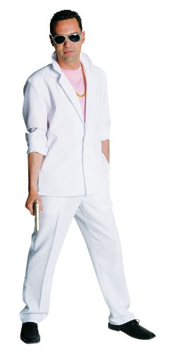 80's White Miami Vice Suit. Available in four sizes from S to XL. Roll up your jacket sleeves and become Sonny Crockett for the day!