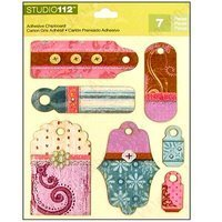 K&Company Patterned Tags Adhesive - Chipboard Tags Adhesive