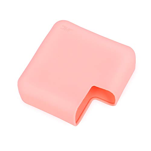 JRCMAX Macbook Charger Protective Case,Soft Thin Silicone Protector Case for Macbook Pro 15 Touch Bar 2016/2017 Release Pro 15 Retina Model A1707 A1398 (Macbook 15 Touch Bar, Pink)