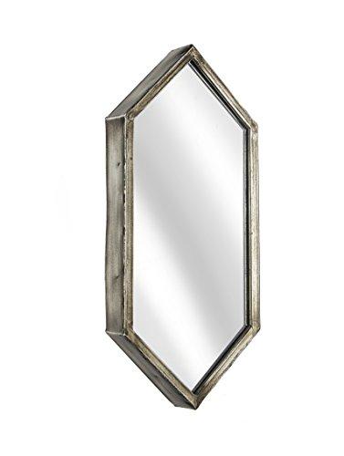 Metal Hexagonal Wall Mirror, 6.5