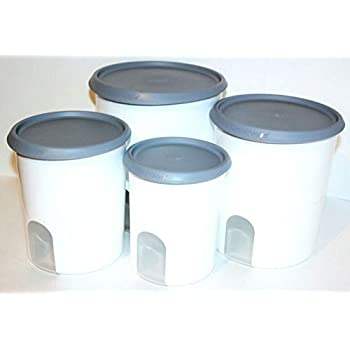 Amazon.com: Tupperware 4 Piece Canisters Set One-Touch