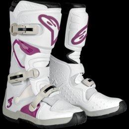 Alpinestars Women's Stella Tech-3 Boots (9) (WHITE/VIOLET)