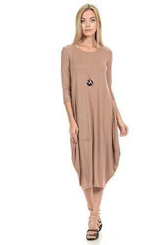 pastel-by-vivienne-womens-cocoon-midi-dress-large-mocha