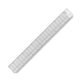 Wescott (See-Thru) Clear Plastic Grid Ruler, 18 inch/34 Centimeters