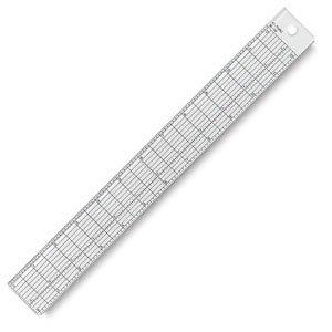 Westcott Clear Plastic Grid Rulers 12 inch.