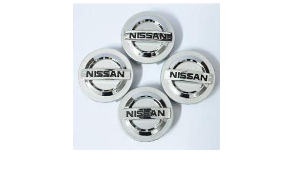 Jqlcgtmqwu 4Chrome Wheel Center Tapas de Cubo Tapacubos para Nissan Aeolus Primera Altima MICRA 60mm: Amazon.es: Coche y moto