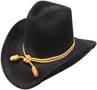 0b3764e5d6518 Stetson Men s Fort Crushable Wool Leather Hatband Western Cowboy Hat - Black