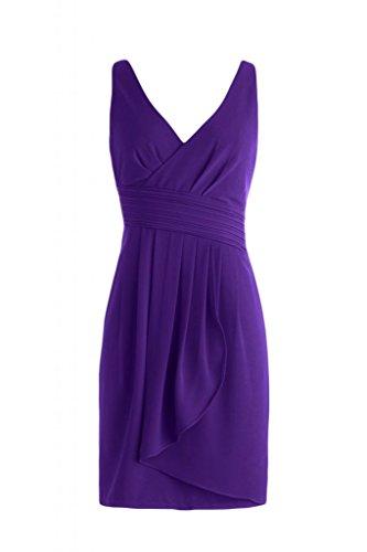 con motivo Cocktail da Homecoming da corto damigella scollo Sunvary Gowns elegante Abito V d'onore a Regency