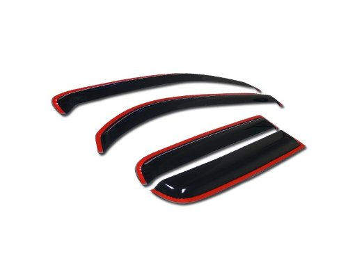 For 2006-2011 Chevy HHR Models IN-CHANNEL SUN/RAIN/WIND GUARD SMOKE VENT SHADE DEFLECTOR WINDOW VISOR 4PCs
