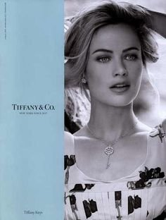 PRINT AD With Caroline Murphy For 2010 Tiffany Keys - Tiffanys Keys