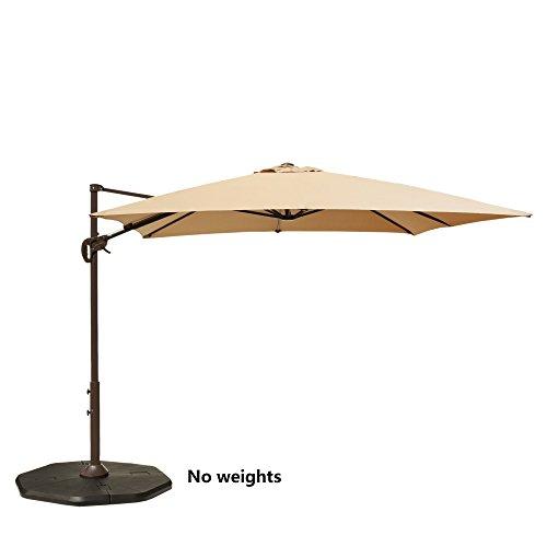 Aluminum Oval Shade Patio Umbrella - 5