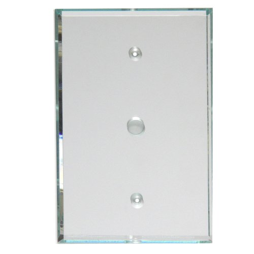 GlassAlike TV/Cable Acrylic Mirror Switch Plate (Renovation Plate Cover)