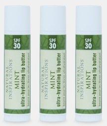 Natural Inspirations Ultra Hydrating SPF 30 Lip Butter 3 Piece Set - Mint