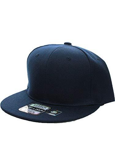 L.O.G.A. Plain Adjustable Snapback Hats Caps (Many Colors). (One Size, Navy) -