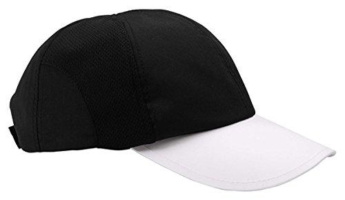 Champion Ladies Moisture-Wicking Mesh Cap (C6712) -BLACK/WHIT (Flexi Cap)