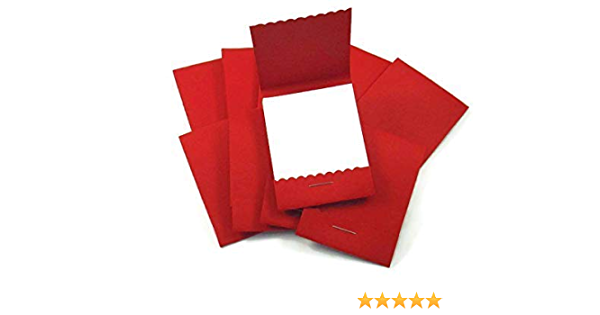 Mini Matchbook Notepads Party Favors in Red Set of 20