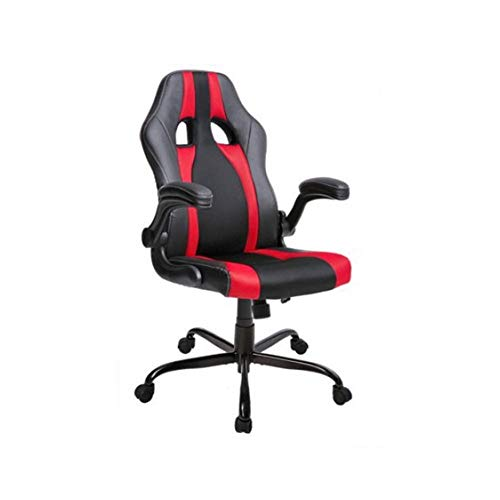 Swivel Chair, High Back Racing Game Chair, Leather and Mesh (Color : Blue)