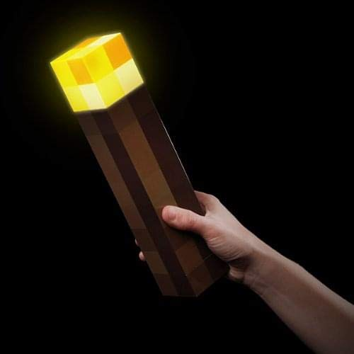 ThinkGeek Minecraft Light-Up Wall Torch - Mounts To Your...