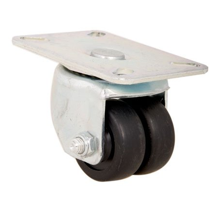 E.R. Wagner Caster, Low Profile Medium, Roller Bearing, Swivel, Type-Duratex Single, Cap.= 350 lbs. (1 Each) (Duratex Roller)