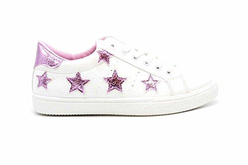 Shop Sneakers Simili Patchs Arrière Baskets Oh Brillant Bout Tissu Rose Blanc SHY42 avec My Tennis Cuir Et Etoiles UXYqYAR5xn