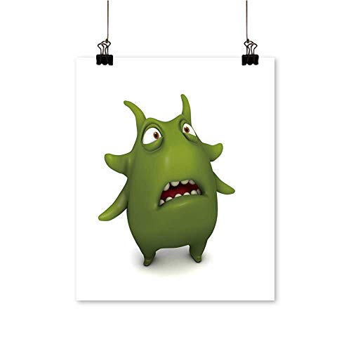 for Home Decoration Green Virus for Home Decoration No Frame,24