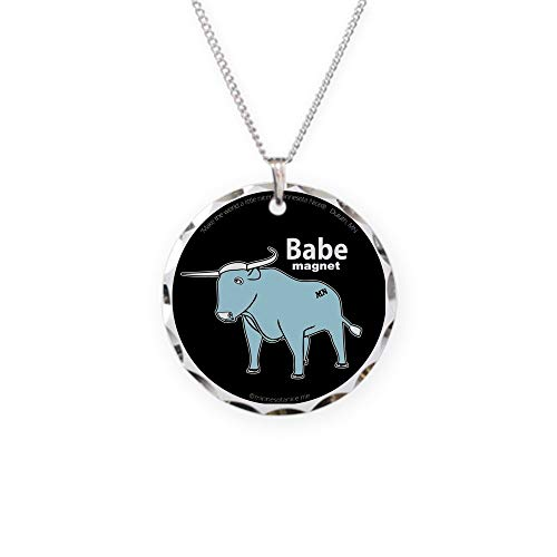 CafePress Babe_Magnet (Fixed) Charm Necklace with Round Pendant