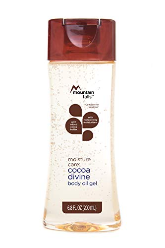 Mountain Falls Moisture Care: Body Oil Gel with Added Cocoa Butter and Replenishing Moisturizers, Cocoa Divine, 6.8 Fluid Ounce ()