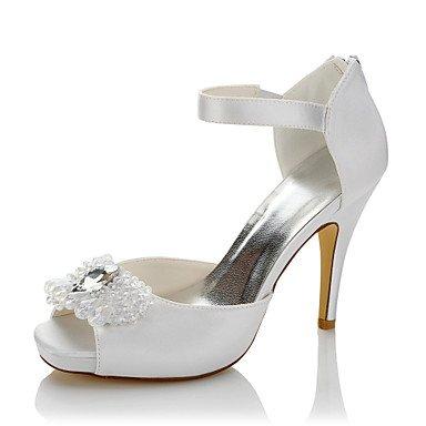 amp; Talons à Evénement cm Automne Satin Femme Mariage 10 Talon Eté ggx Aiguille Soirée LvYuan Blanc 12 à Confort Confort white Chaussures Cristal IpqftPtxw