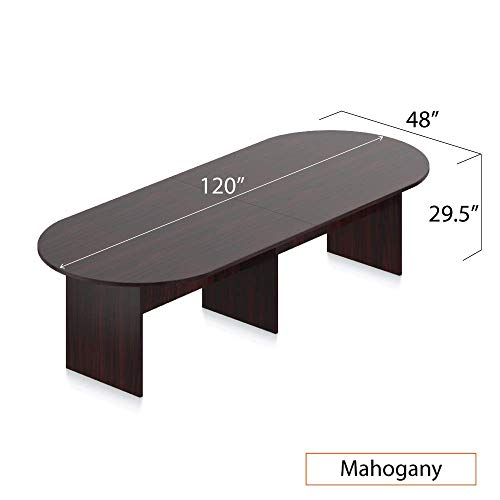 GOF 6FT, 8FT, 10FT Conference Table Chair Set, Cherry, Espresso, Mahogany, Walnut (10FT with 8 Chairs, Espresso) by GOF (Image #3)