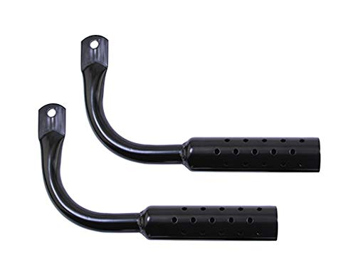 (Lowrider Black Gangster Bike Muffler with Holes. Sold as a Pair. Bike Part for Cruiser, BMX, Trike, Bicycle Parts)
