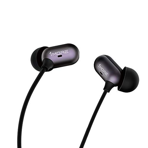 1MORE Capsule Dual Driver In-Ear Earphones Comfortable Headphones with Hi-Res Sound, Noise Isolation, Snug Fit, Magnetic, Microphone and Remote Control for Smartphones/PC/Tablet - Black