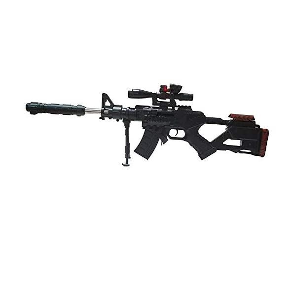 HALO NATION Plastic Sniper Toy Gun (Black, Big Size, 67 cm) with Laser Target System and Bullets