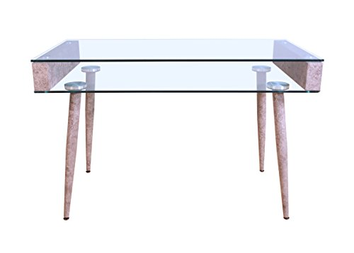 ComfortScape Boyd Desk - Stand, Clear Glass (Box 1 of 2) by ComfortScape
